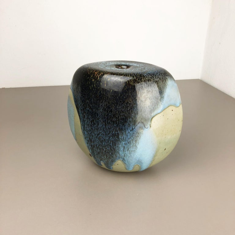 Pottery Abstract Ceramic Studio Stoneware Vase by Gotlind Weigel, Germany, 1960s For Sale