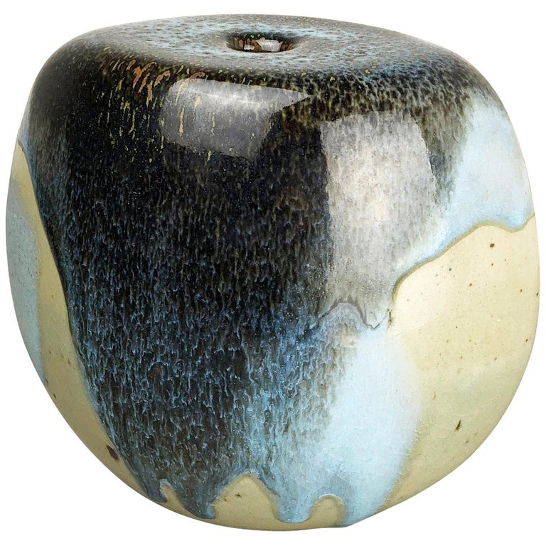 Abstract Ceramic Studio Stoneware Vase by Gotlind Weigel, Germany, 1960s For Sale