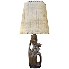 Abstract Ceramic Table Lamp in the Manner of Heifetz