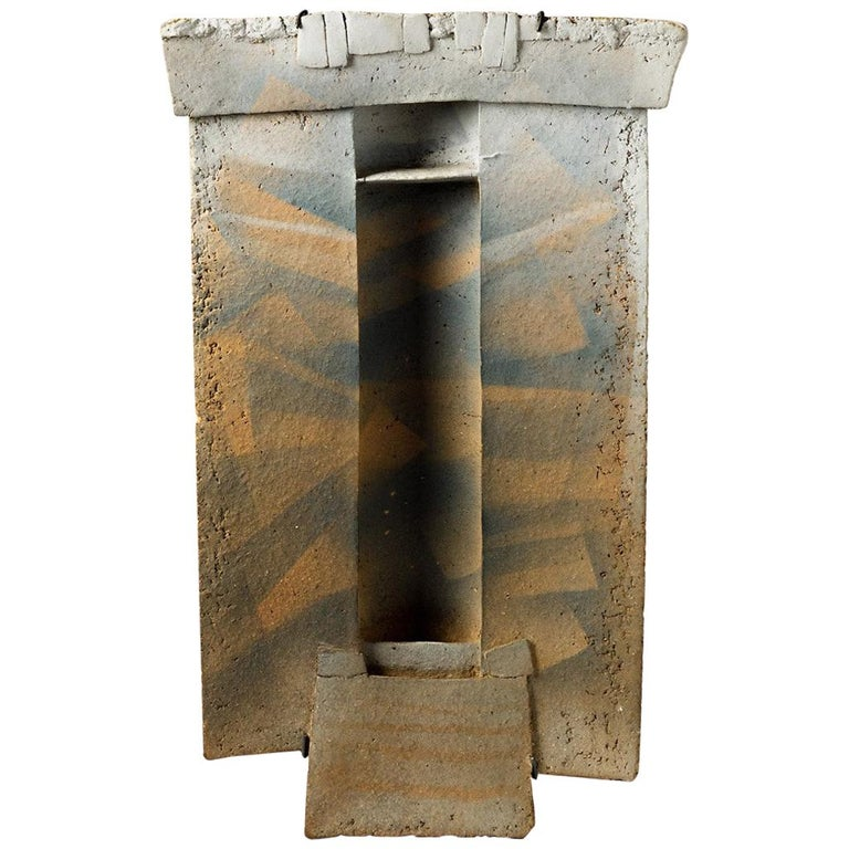 Abstract Ceramic Wall Panel by French Artist Jacqueline Paul Dauphin, circa 1980 For Sale