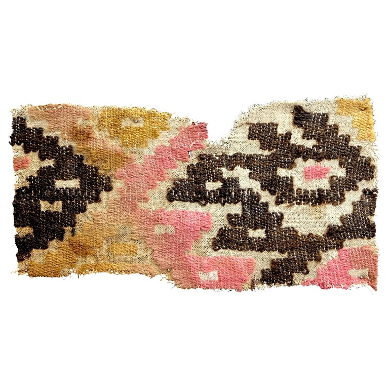 Abstract Chancay Pre-Columbian Textile, Peru, 1000-1420 AD, Ex Ferdinand Anton For Sale