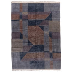 Abstract Chinese Art Deco Carpet