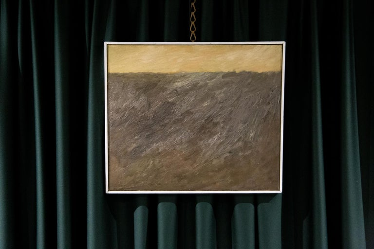 Modern Abstract Composition by Teddy Millington Drake, Oil on Canvas Signed 1968 For Sale
