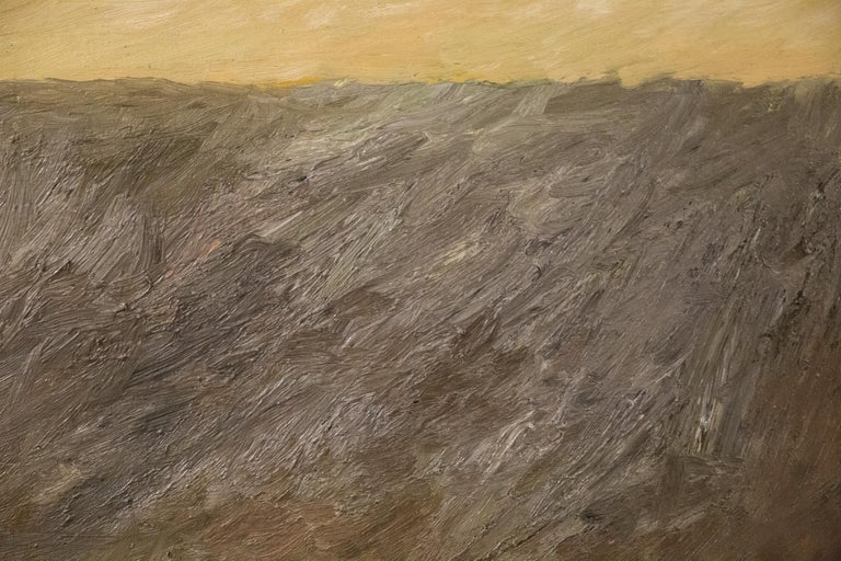 Italian Abstract Composition by Teddy Millington Drake, Oil on Canvas Signed 1968 For Sale
