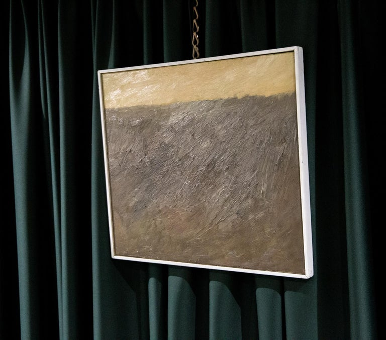 Abstract Composition by Teddy Millington Drake, Oil on Canvas Signed 1968 In Good Condition For Sale In London, GB