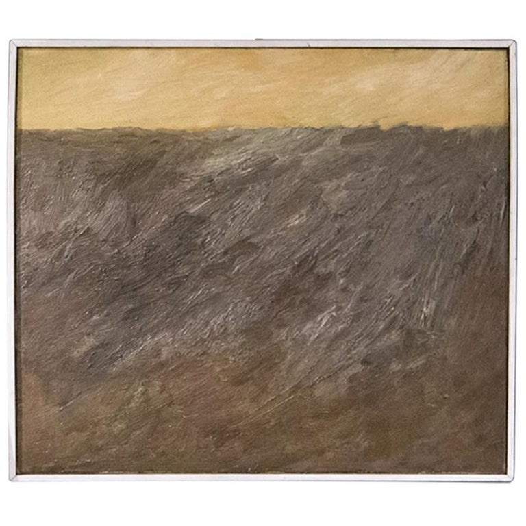 Abstract Composition by Teddy Millington Drake, Oil on Canvas Signed 1968 For Sale
