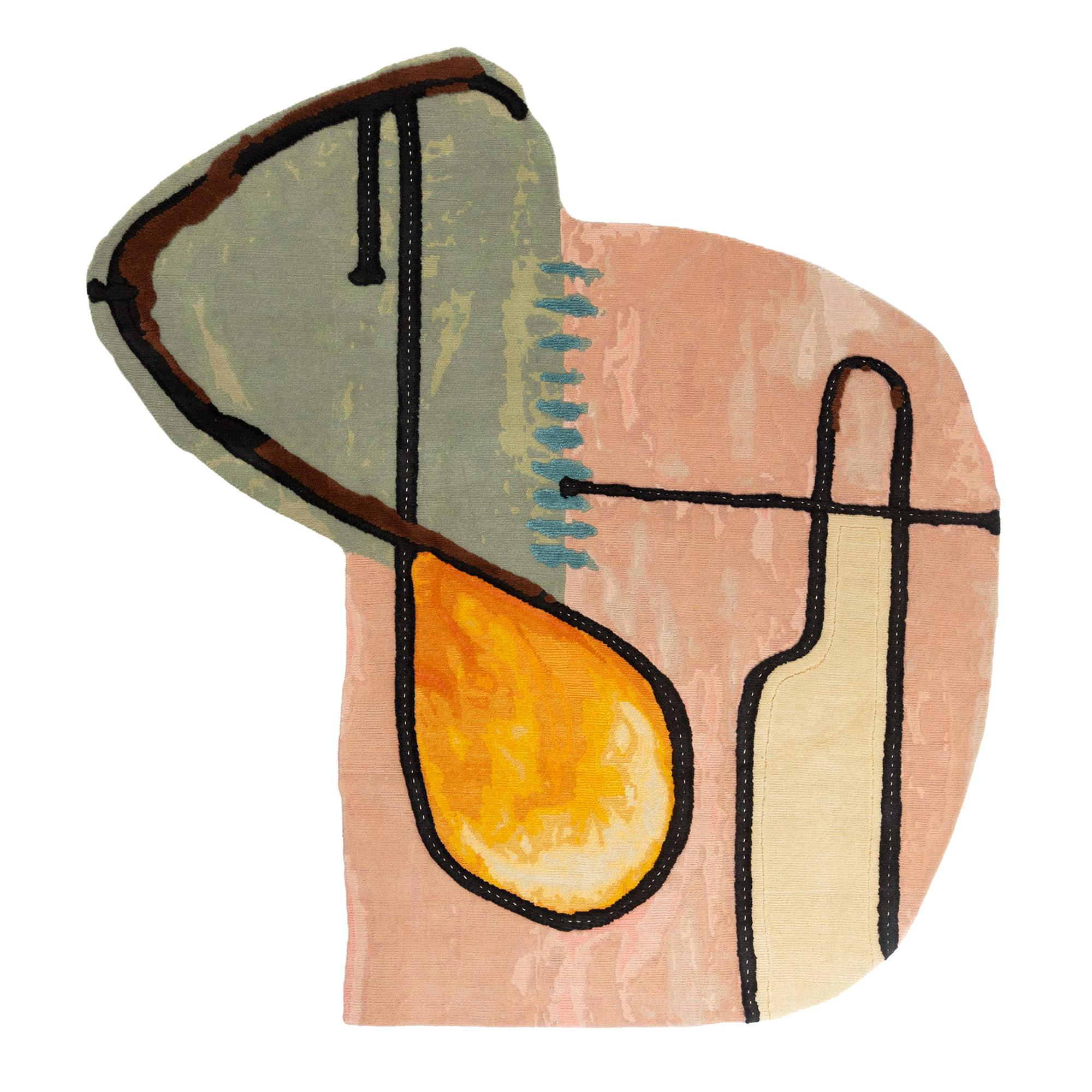 Abstract Composition Doodles Rug by Faye Toogood for CC-Tapis