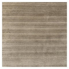 Abstract Contemporary Area Rug Gold, Handmade Wool Silk, Symfonia