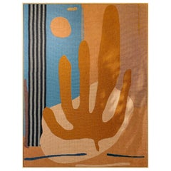 """Abstract Contemporary """"Cactus"""" Tapestry"""