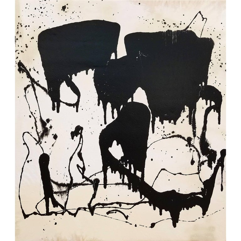 Abstract Contemporary Mixed-Media Painting on Canvas by Marcus Sisler For Sale
