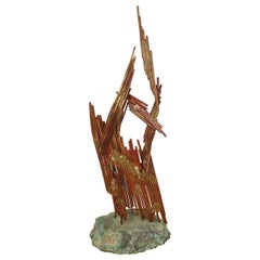 Abstract Copper Sculpture