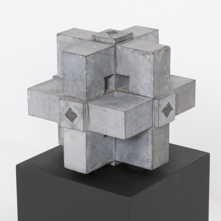 Abstract Cube Sculptures by Jef Mouton For Sale 3