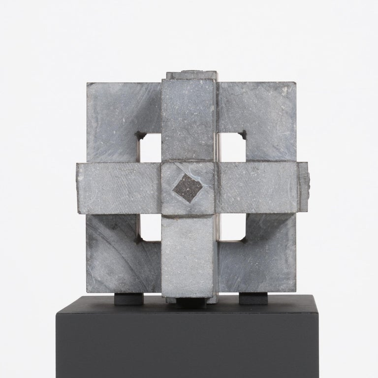 Modern Abstract Cube Sculptures by Jef Mouton For Sale