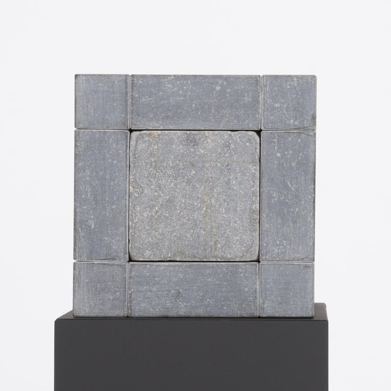 Belgian Abstract Cube Sculptures by Jef Mouton For Sale