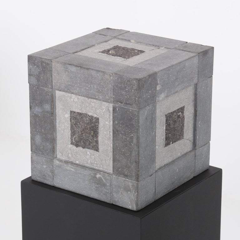Abstract Cube Sculptures by Jef Mouton For Sale 1