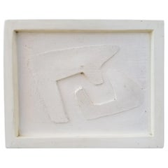 Abstract / Cubist Terracotta Wall Plaque by Herman Volz