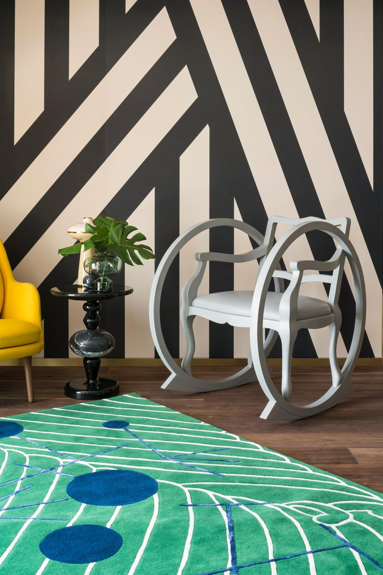 Abstract Dadaist Contemporary Rug Inspired by Sophie Taeuber Arp For Sale 8