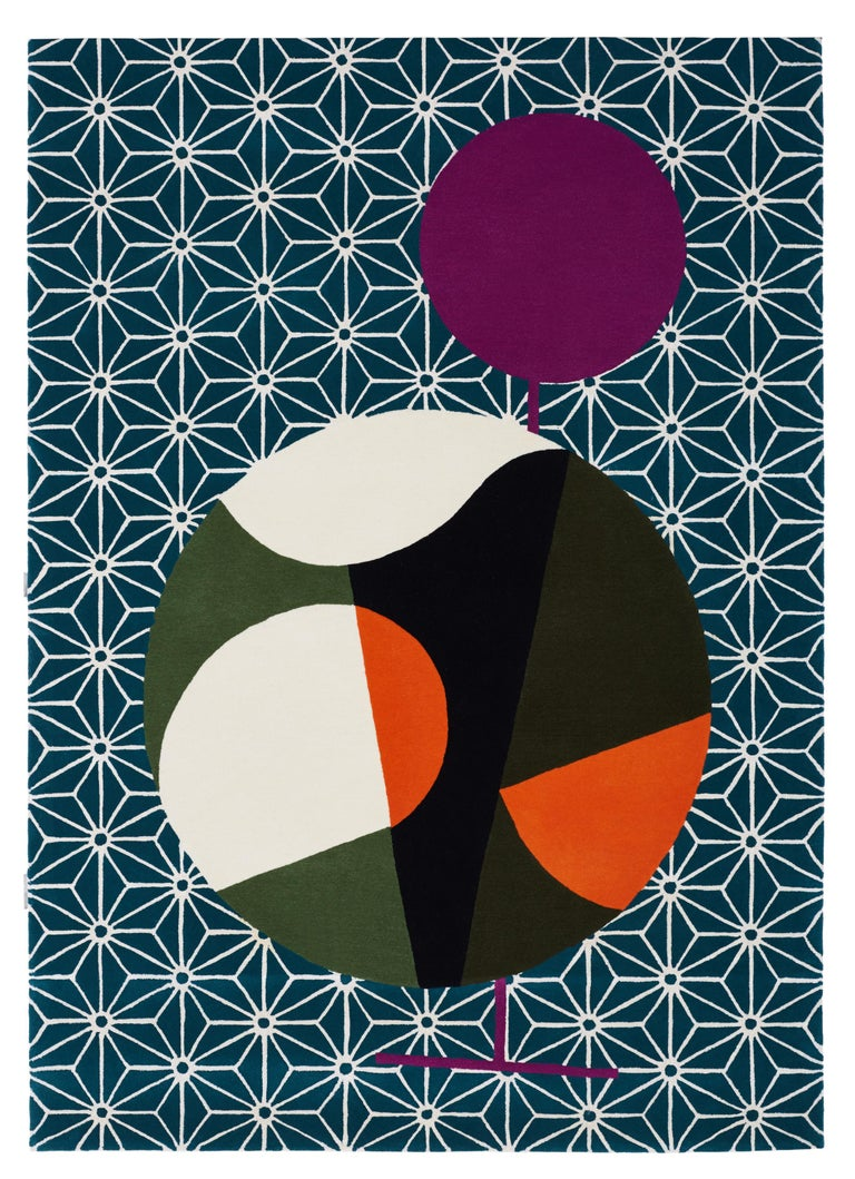 Abstract Dadaist Contemporary Rug Inspired by Sophie Taeuber Arp For Sale 9