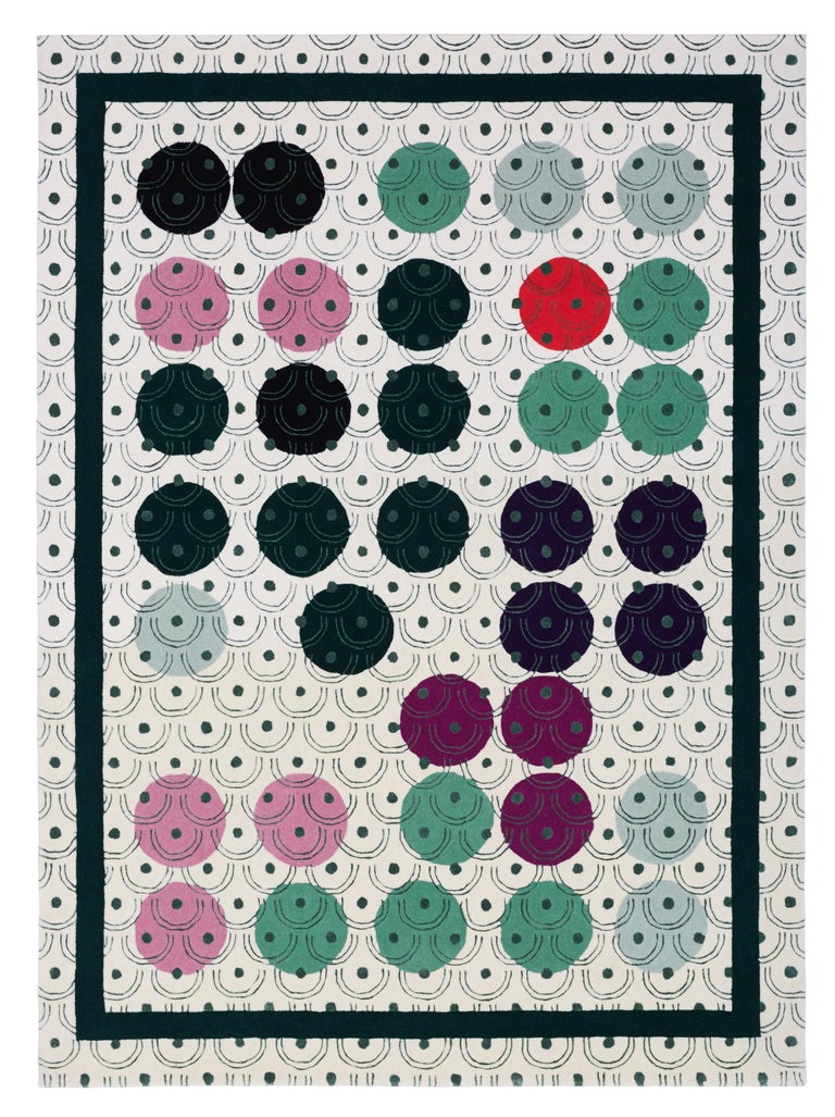 New Zealand Abstract Dadaist Contemporary Rug Inspired by Sophie Taeuber Arp For Sale
