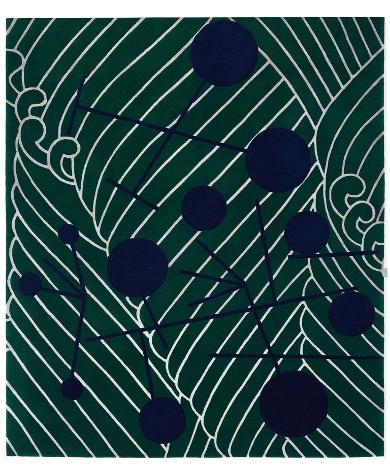 Abstract Dadaist Contemporary Rug inspired by Sophie Taeuber Arp For Sale 2