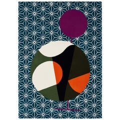 Abstract Dadaist Contemporary Rug Inspired by Sophie Taeuber Arp