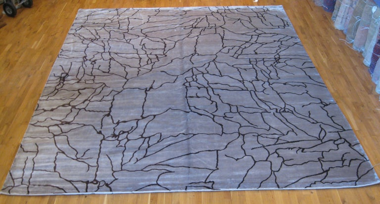 Abstract design rug.