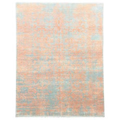 Abstract Design Rug in Silk and Wool