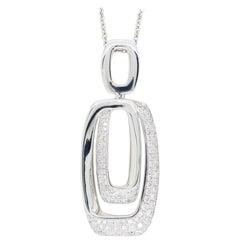 Abstract Diamond Drop Pendant Necklace