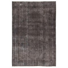 Abstract, Distressed Gray Turkish Rug