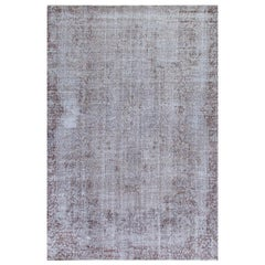 Abstract, Distressed Vintage Central Anatolian Rug