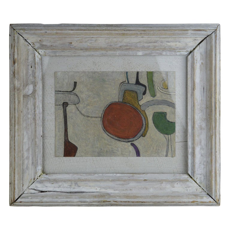 Abstract Drawing by Martin Grose, Dated 1965 For Sale