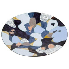 Abstract Enamel-on-Copper Dish by Maria Viktor, circa 1950s