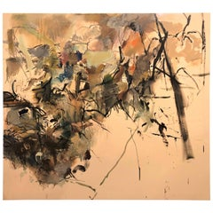 "Abstract Expressionist Malcolm Bray ""Dimensional Space No 17"" Oil on Canvas"