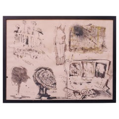 Abstract Expressionist Mixed Media by Burt Hasen, 1961