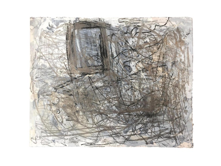 Marcus Sisler is an abstract expressionist painter based in Chicago, Illinois. His work embodies a tumultuous emotional struggle, utilizing the process of creation as a therapeutic practice. 'Awareness' - Acrylic paint, graphite, and charcoal on