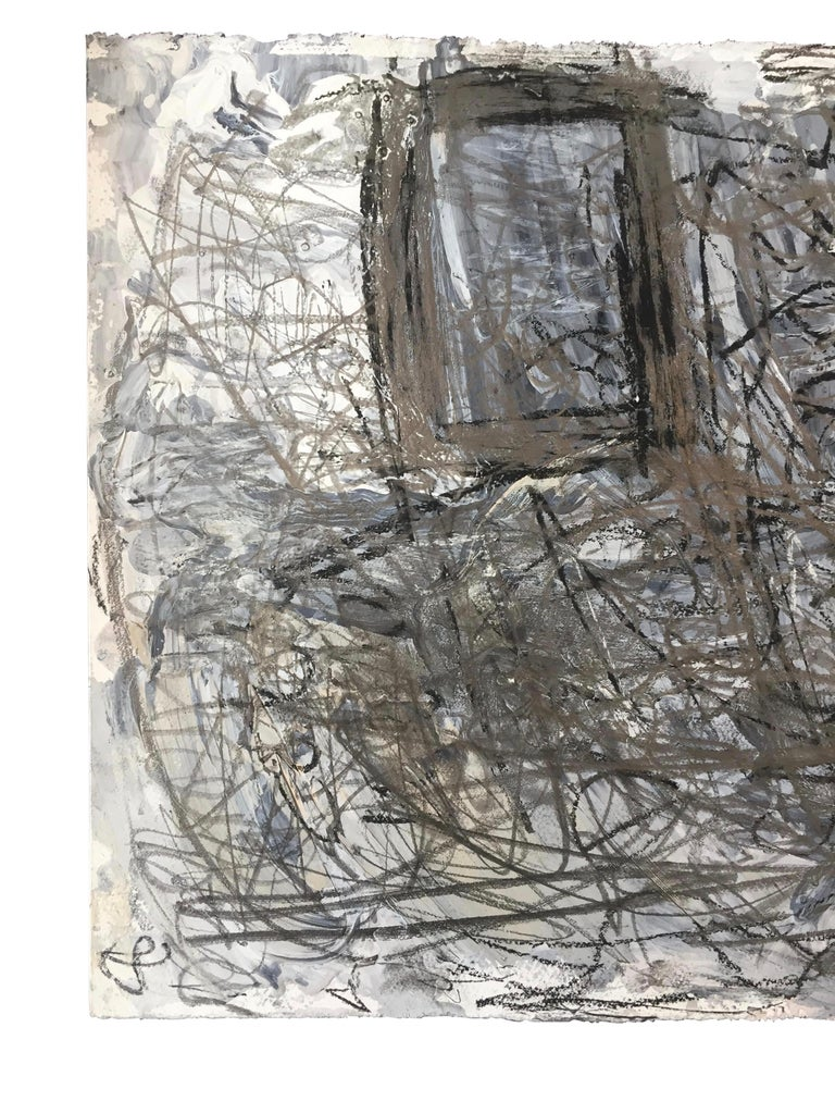 American Abstract Expressionist Mixed-Media on Paper by Marcus Sisler For Sale