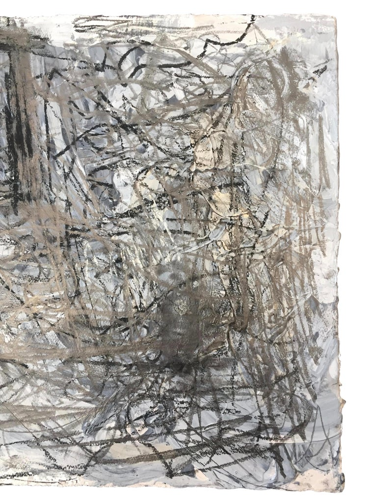 Painted Abstract Expressionist Mixed-Media on Paper by Marcus Sisler For Sale