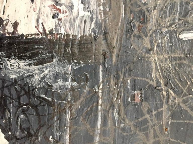 Abstract Expressionist Mixed-Media on Paper by Marcus Sisler In New Condition For Sale In Chicago, IL