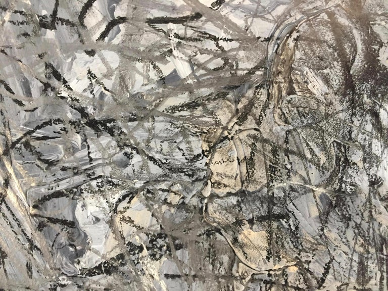 Contemporary Abstract Expressionist Mixed-Media on Paper by Marcus Sisler For Sale