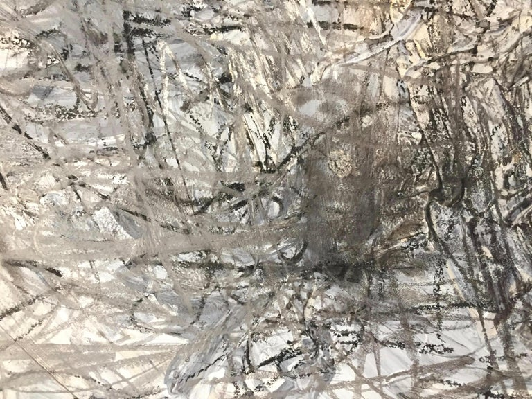 Acrylic Abstract Expressionist Mixed-Media on Paper by Marcus Sisler For Sale