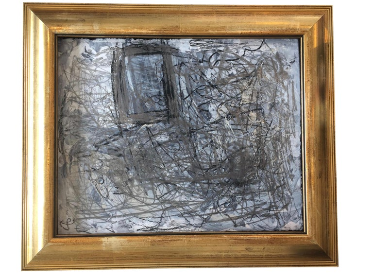 Abstract Expressionist Mixed-Media on Paper by Marcus Sisler For Sale 1