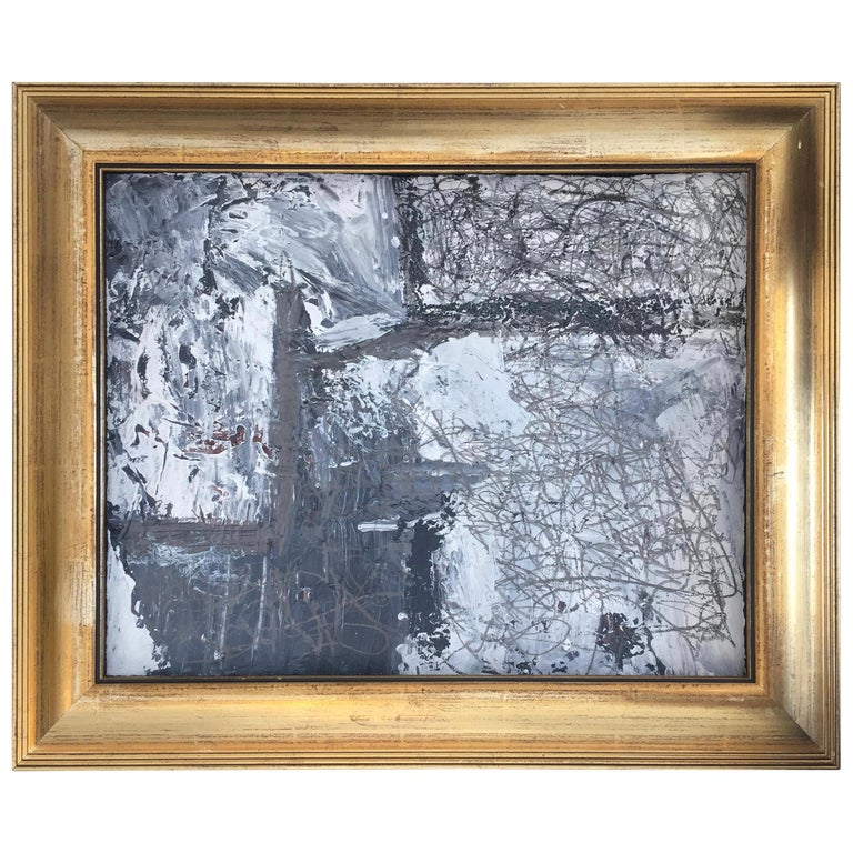 Abstract Expressionist Mixed-Media on Paper by Marcus Sisler For Sale