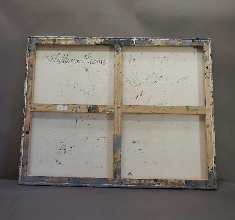 Danish Abstract Expressionist Oil on Canvas by W. Frome For Sale