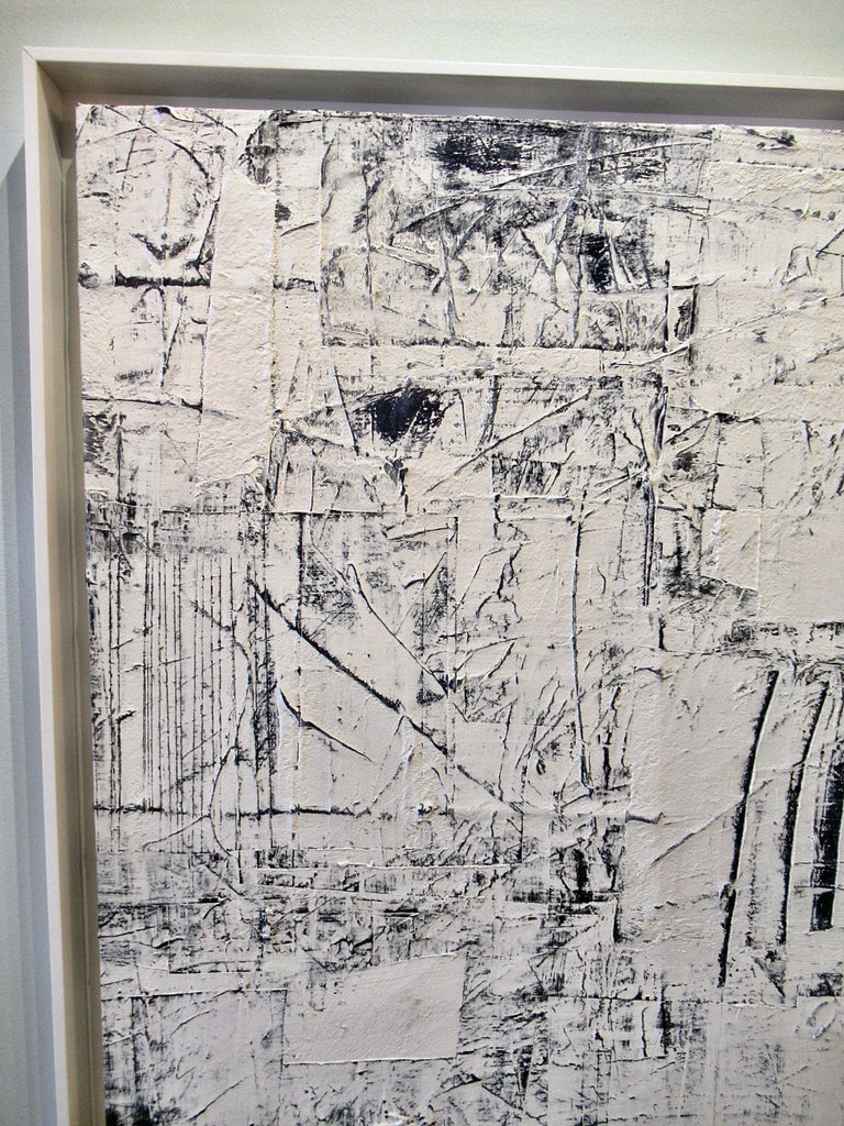 Contemporary Abstract Expressionist Oil on Canvas, Renato Freitas For Sale