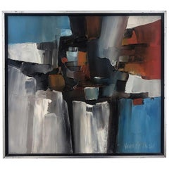Abstract Expressionist Painting by California Listed Artist Kenneth Ray Wilson