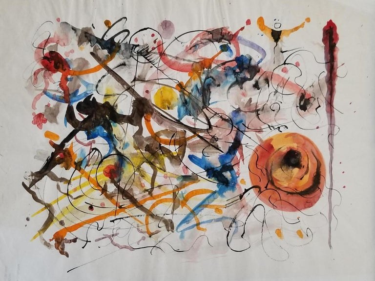 Abstract Expressionist Painting by Hendrik Grise, California For Sale 3