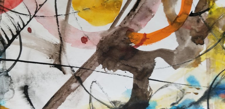 Painted Abstract Expressionist Painting by Hendrik Grise, California For Sale