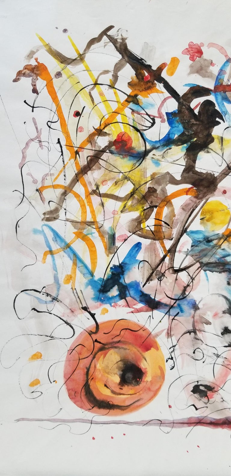 Abstract Expressionist Painting by Hendrik Grise, California In Good Condition For Sale In Fulton, CA