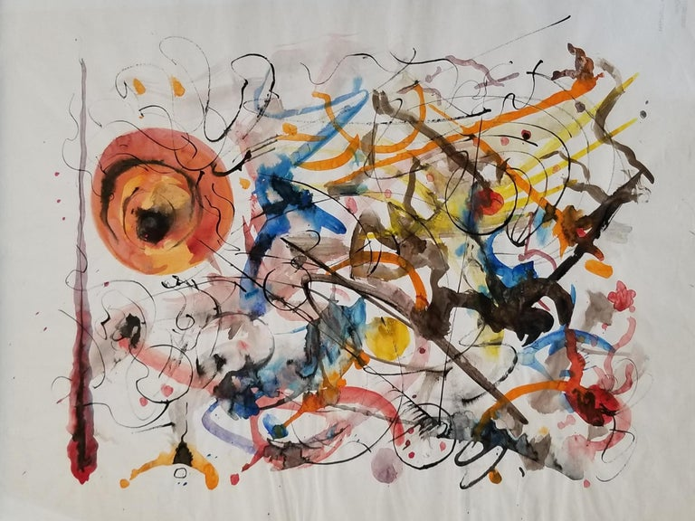 Abstract Expressionist Painting by Hendrik Grise, California For Sale 1