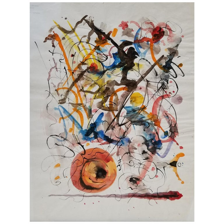 Abstract Expressionist Painting by Hendrik Grise, California For Sale